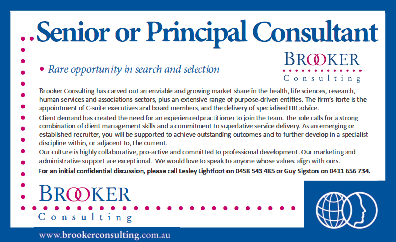 Brooker Consulting Advert