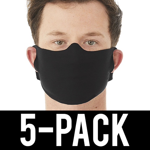 Face Covering 5 pack - Thin Black