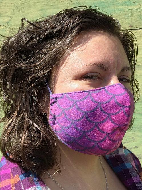 Face Mask - Mermaid Pink (Contoured)