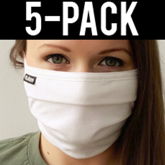 Face Mask 5 pack - White 2-ply