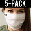 Thumbnail: Face Mask 5 pack - White 2-ply