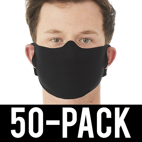 Face Mask 50 pack - Thin Black