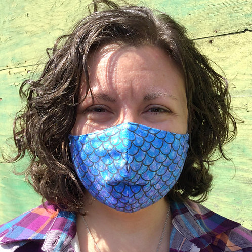 Face Mask - Mermaid Blue (Contoured)
