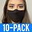 Thumbnail: Face Mask 10 pack - Thin Black