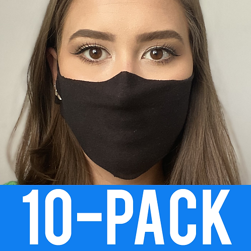 Face Mask 10 pack - Thin Black