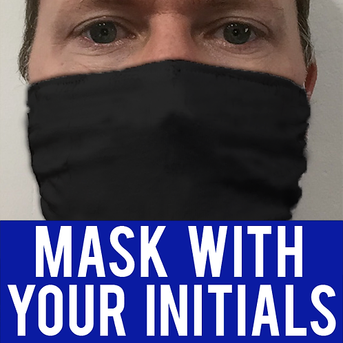 Thin Face Mask - with initials