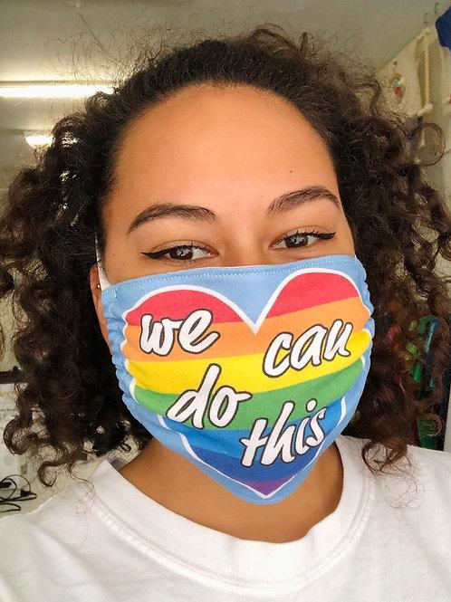 Face Mask - We Can Do This (Rectangular)