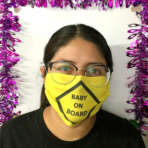 Face Mask - Baby On Board (Rectangular)
