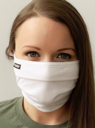 Face Mask - White 2-ply pleated