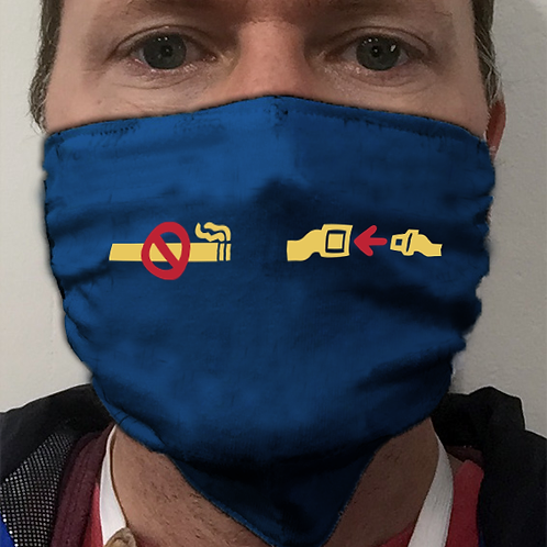 Face Mask - Fasten Belts and No Smoking