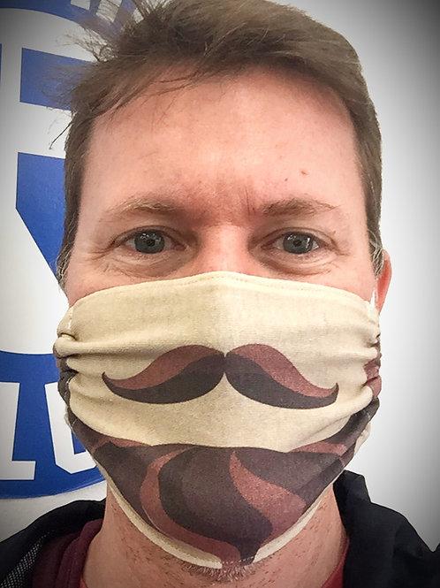 Face Mask - Beard & Moustache (Cartoon)