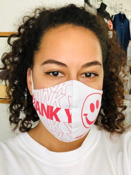 Face Mask - Thank You (Contoured)