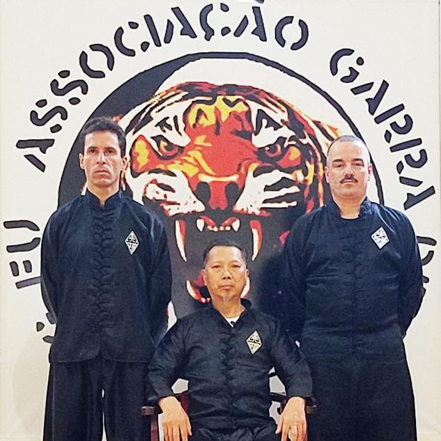 Sifu Richard Leutz, Sigung Lam Chun Sing e Sifu Michael Goodwin (EUA)