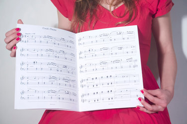 """Holly Overton, Sheet music for """"Coral's Theme"""" (inside)  insta: @holly_overton_"""