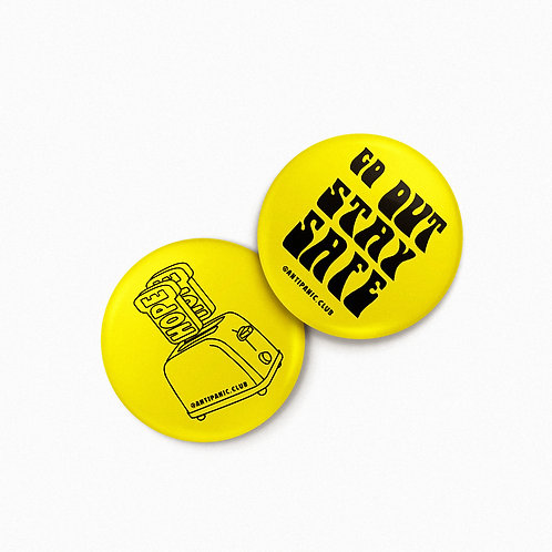 4 BADGES ANTI PANIC CLUB