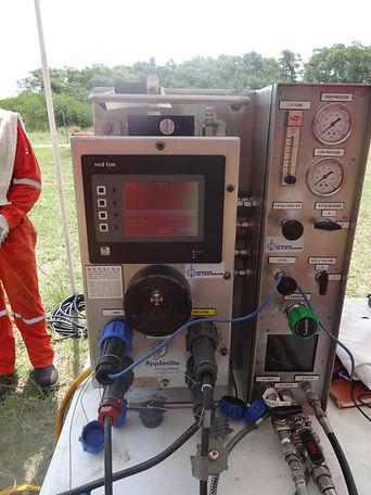 Display operando de la unidad Welltracer