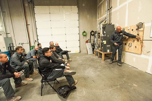 Paul's Heating and Air Conditioning Technicians in Training