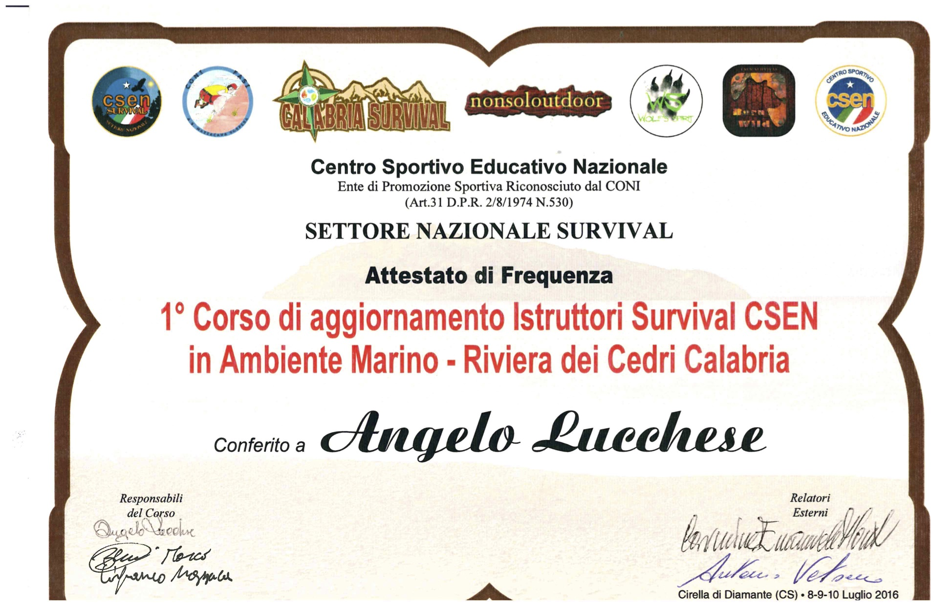 Diplomi Angelo