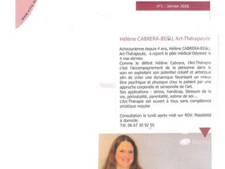L'Achicourrier, la magazine d'Achicourt parle d'Art-thérapie !