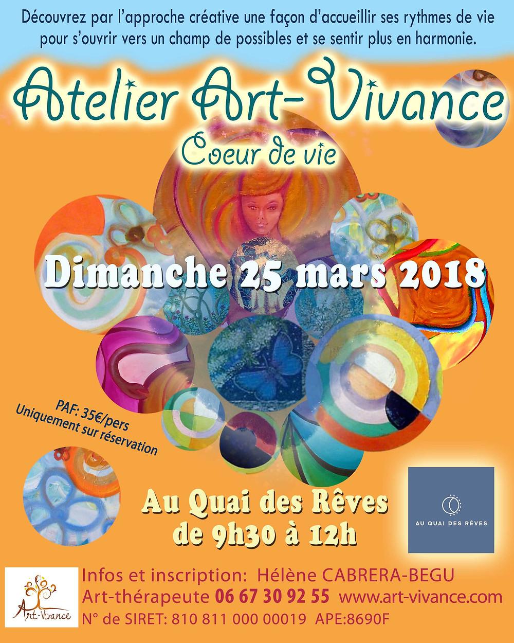 Atelier Art-Vivance Arras Hauts-de-France 25 mars 2018