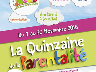 Quinzaine de la parentalité: vendredi 18 novembre 2016 sur Achicourt!