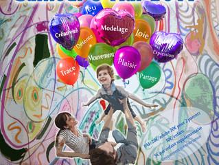 Envolée créative et de bien-être en famille avec enfants de 4 à 12 ans!