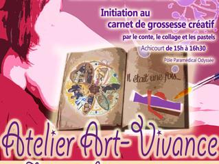 Atelier Art-Vivance pour découvrir le carnet de grossesse créatif