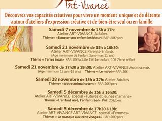 L'art-thérapie et les ateliers d'expression créative et de bien-être sur le secteur d'Ar