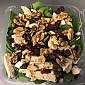 Cranberry Walnut Chicken Spinach Salad