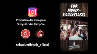 Schweizer Fleisch Campfire – div. Instagram Storys (Auswahl 2019)