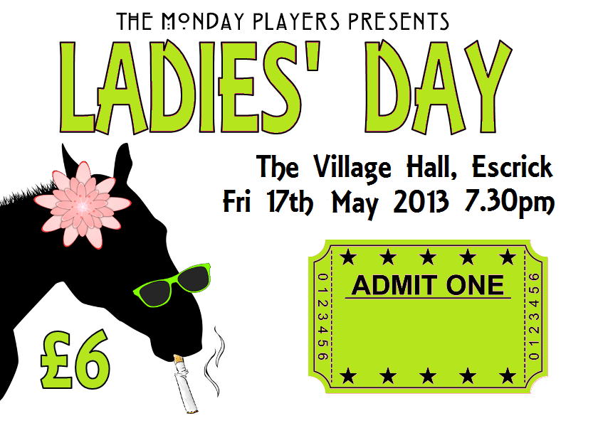 ladies day ticket graphic fri