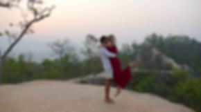 dancing for surise at the Pai grand canyon