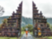 the famous bali gate in ubud
