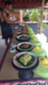 Our buffet dinner we cooked at our Ubud cooking class in bali