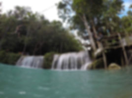 Rope swings at Cambugahay falls on siquijor island