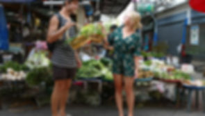 getting some fresh produce at the market in Chiang Mai