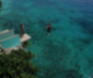 Cliff jumping in Siquijor, Philippines