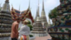 Walking through the Wat Pho temple