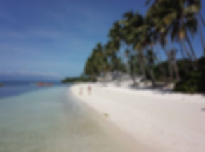 Drone shot of paradie on little boracay beach - Siquijor
