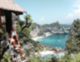 View from the treehouse in Nusa Penida, Bali