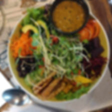 Buddha bowls at the earth tone cafe in Pai