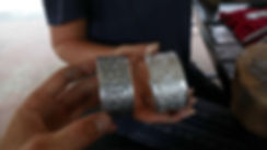 Finished bracelets at our chiang mai silversmith class