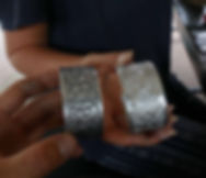 Our finished bracelets from the silver smith class in chiang rai