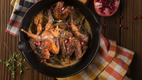Quail recipe with middle eastern touch