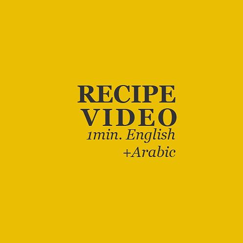 RECIPE VIDEO CREATION - CREATIVE