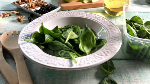 Salad Recipe shot using slow motion