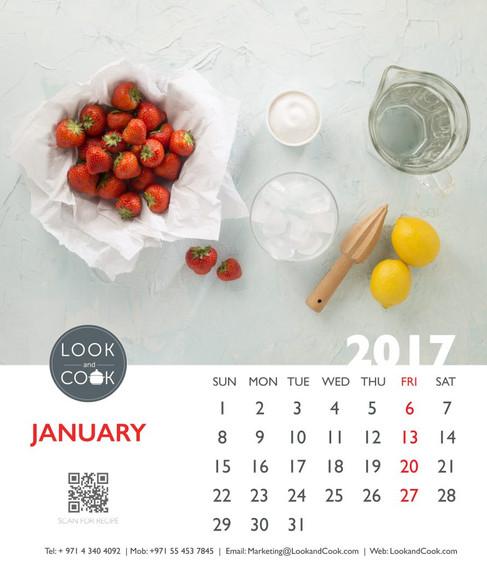 Look and Cook Calendar - 2017