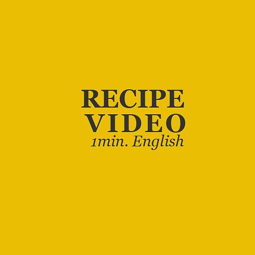 RECIPE VIDEO CREATION-BASIC -ENGLISH