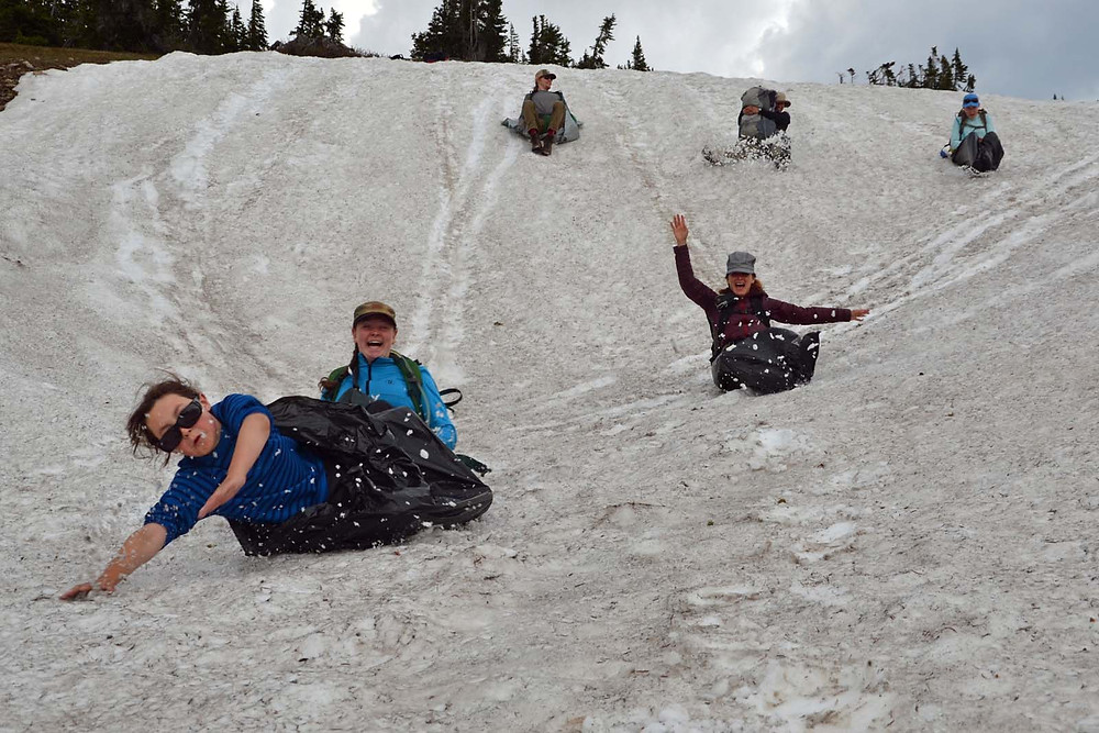 What's better than sledding home from work?