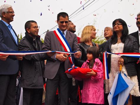 Inauguration pluvieuse & heureuse